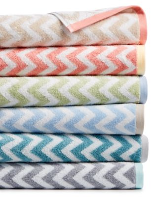 Chevron Bath Towel Collection, Created for Macy's