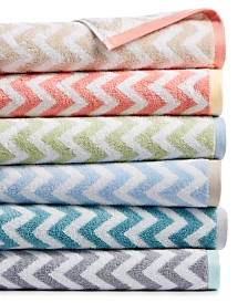 Martha Stewart Collection Chevron Bath Towel Collection, Created for Macy's