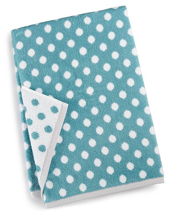 "Martha Stewart Collection 30"" x 54"" Cotton Dot Spa Fashion Bath Towel, Created for Macy's"