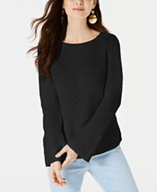 Style & Co Cotton Bell-Sleeve Sweater, Created for Macy's
