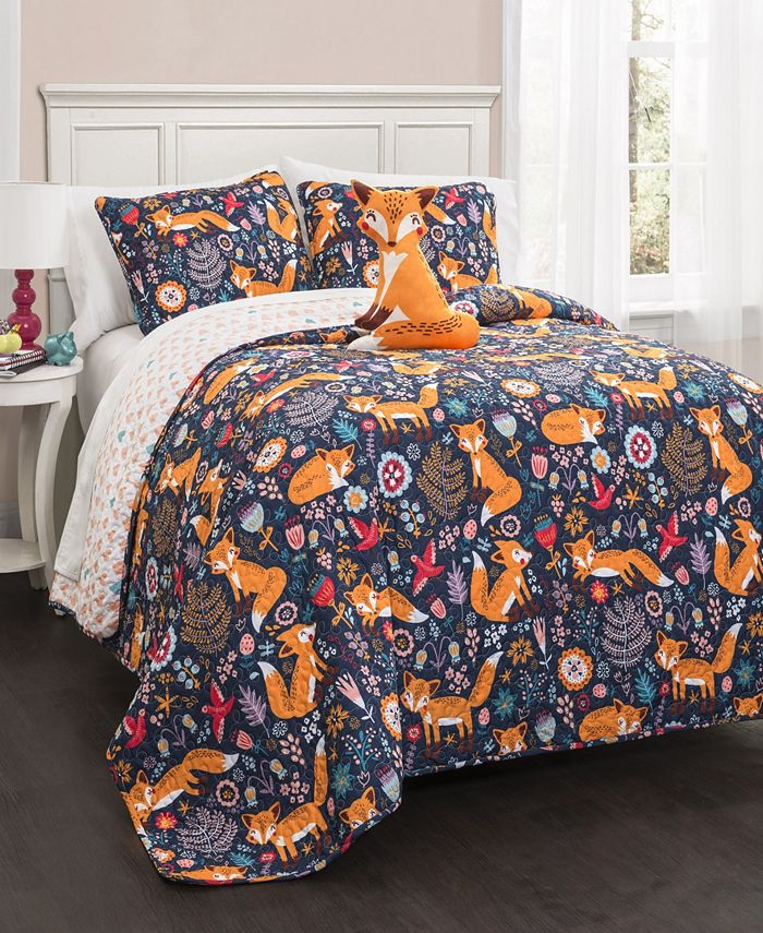 Lush Décor - Pixie Fox 4-Pc. Quilt Sets