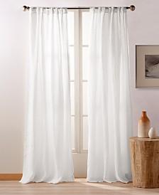 "DKNY PURE City Linen 108"" Backtab Window Panels, Set of 2"