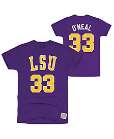 Retro Brand Men's LSU Tigers Throwback Name and Number Basketball T-Shirt