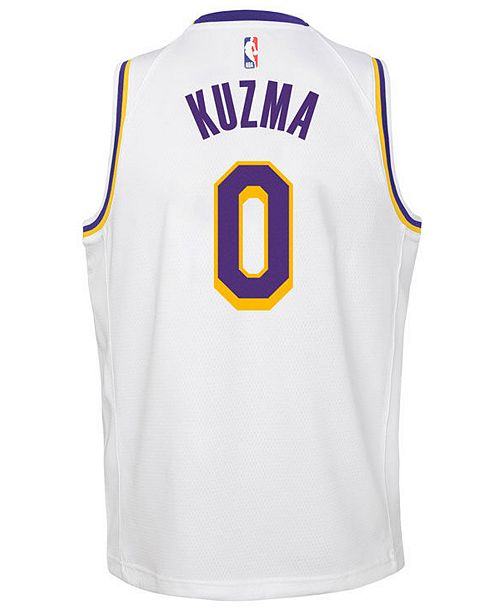 ... Nike Kyle Kuzma Los Angeles Lakers Association Swingman Jersey 2467bd4b6