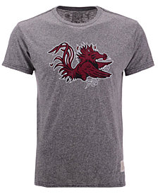 Retro Brand Men's South Carolina Gamecocks Retro Logo Tri-blend T-Shirt