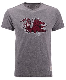 Retro Brand Men's South Carolina Gamecocks Retro Logo Tri-blend T-Shirt