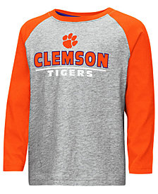 Colosseum Clemson Tigers Long Sleeve Raglan T-Shirt, Toddler Boys (2T-4T)