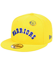 New Era Golden State Warriors Hardwood Classic Nights Pin 9FIFTY Snapback Cap