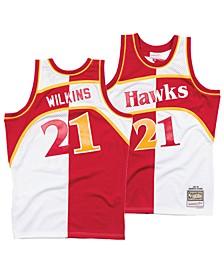 Men's Dominique Wilkins Atlanta Hawks Split Swingman Jersey