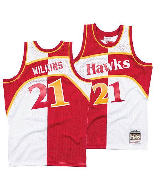 Mitchell & Ness Men's Dominique Wilkins Atlanta Hawks Split Swingman Jersey