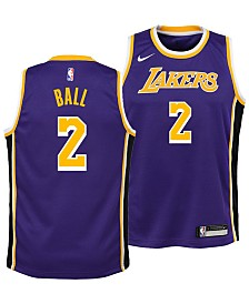 Nike Lonzo Ball Los Angeles Lakers Statement Swingman Jersey, Big Boys (8-20)