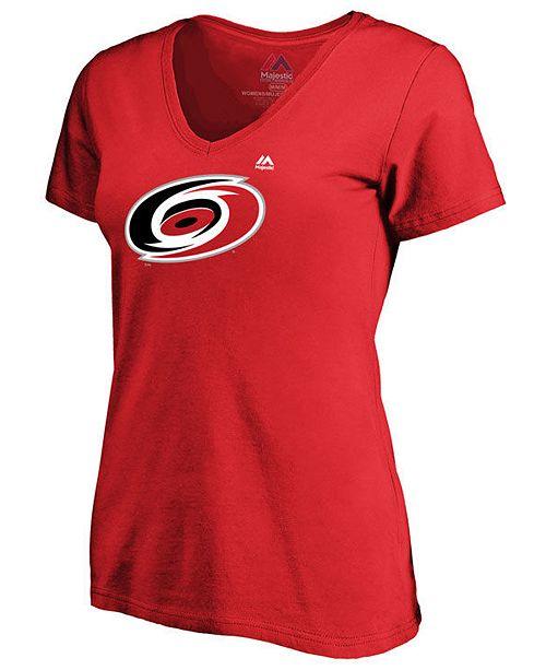Majestic Women's Carolina Hurricanes Primary Logo T-Shirt