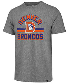 '47 Brand Men's Denver Broncos Team Stripe Match Tri-blend T-Shirt