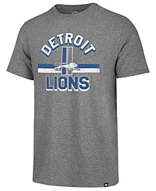 '47 Brand Men's Detroit Lions Team Stripe Match Tri-blend T-Shirt