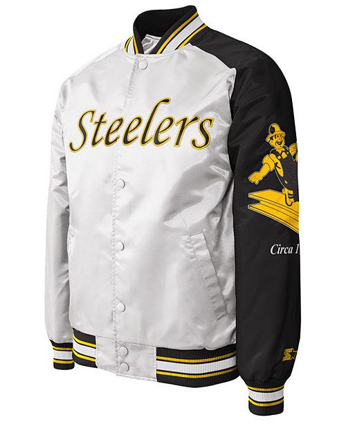 G-III Sports Men's Pittsburgh Steelers Starter Dugout Championship Satin Jacket