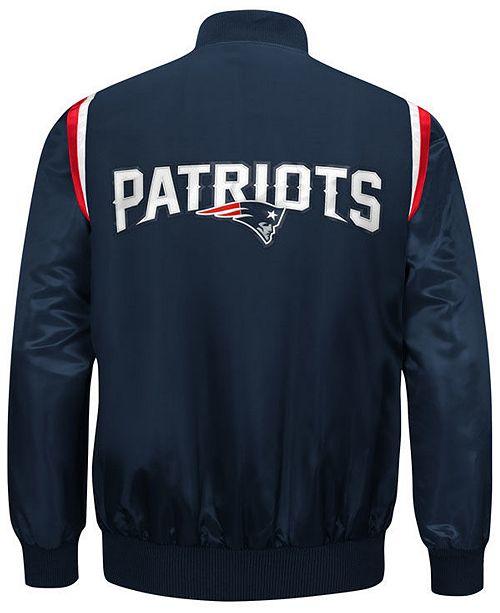 Starter Men s New England Patriots Hat Trick Varsity Jacket - Sports ... 34f61ef7dcc4