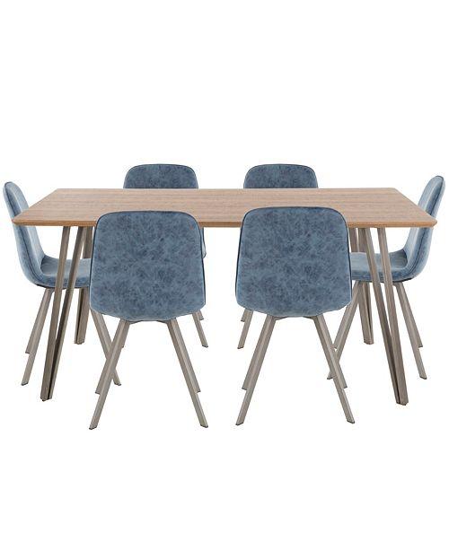 Macys Furniture Outlet Michigan: Lumisource Sedona 7 Piece Dining Set & Reviews