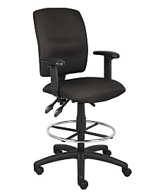 Boss Office Products Multi-Function Drafting Stool With Adjustable Arms