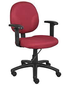 Boss Office Products Wide Seat Adjustable Arm Task Chair