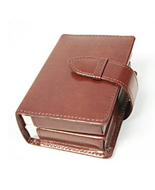 Royce Double Playing Card Set Case in Leather