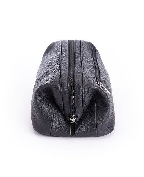 7f0c39b29ebb Royce Leather Royce Toiletry Travel Wash Bag in Pebbled Genuine Leather ...