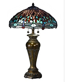 Dale Tiffany Sm Blue Dragonfly Table Lamp