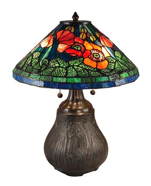 "Dale Tiffany Dallas Peony 22""H Tiffany Table Lamp"