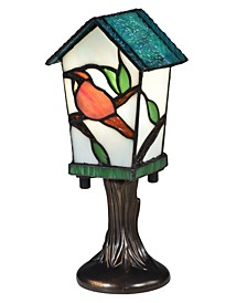 Bird House Tiffany Accent Lamp