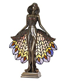 Luna Sculpture Tiffany Accent Lamp