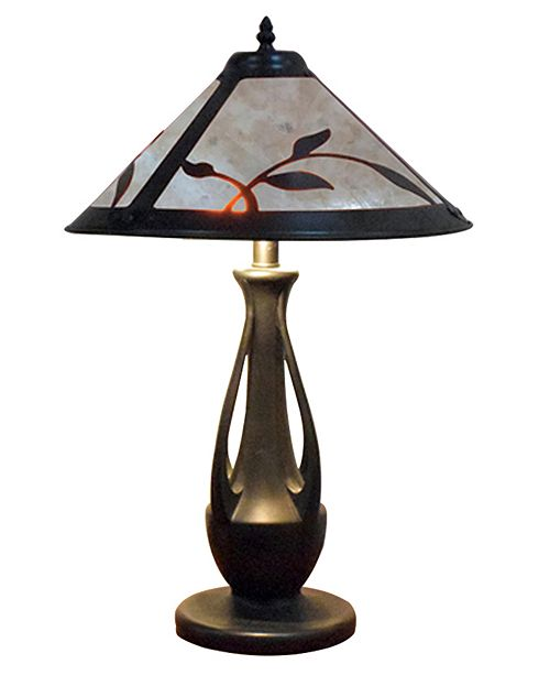 Dale Tiffany Spring Leaves Mica Table Lamp