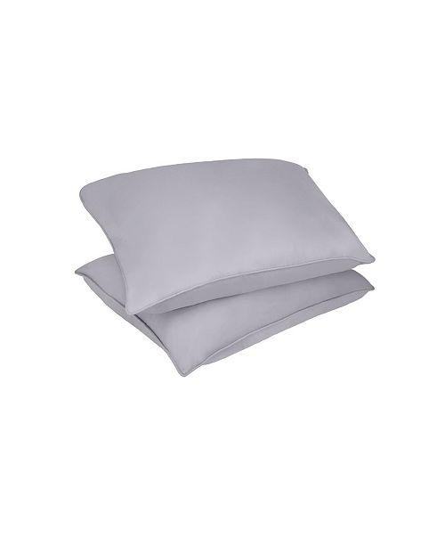 Epoch Hometex inc Lotus Home Microfiber Stain and Water Resistant Bed Pillow 2 Pack Collection