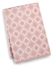 "Tile Diamond Cotton 30"" x 56"" Bath Towel, Created for Macy's"