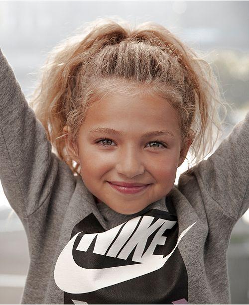 5c330d6d21fe1 Nike Little Girls Futura Logo-Print Fleece Sweatshirt   Reviews - Shirts ...