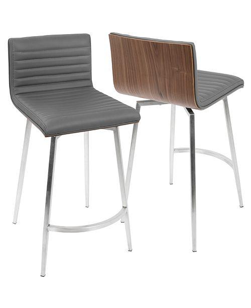 Macys Furniture Outlet Michigan: Lumisource Mason Swivel Counter Stool Set Of 2 & Reviews