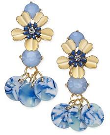 I.N.C. Gold-Tone Flower Drop Earrings, Created for Macy's