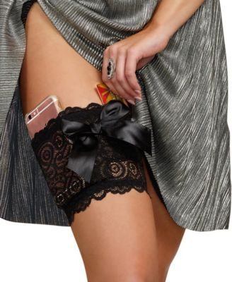 Dreamgirl Womens Lace Garter Wallet with Pockets for Phone and Credit Card