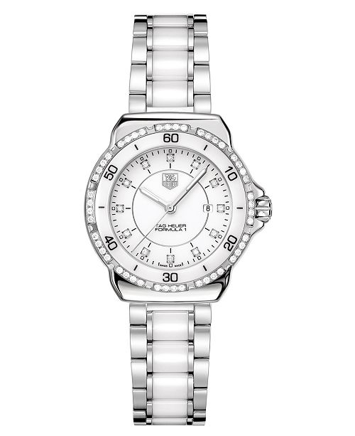 5e4fe4678b7 TAG Heuer Women s Swiss Formula 1 Diamond (1 3 ct. t.w.) Stainless ...