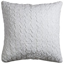 """Rizzy Home Solid 22"""" x 22"""" Textured Pillow Cover"""