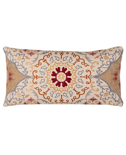 "Rizzy Home 11"" x 21"" Medallion Pillow Cover"