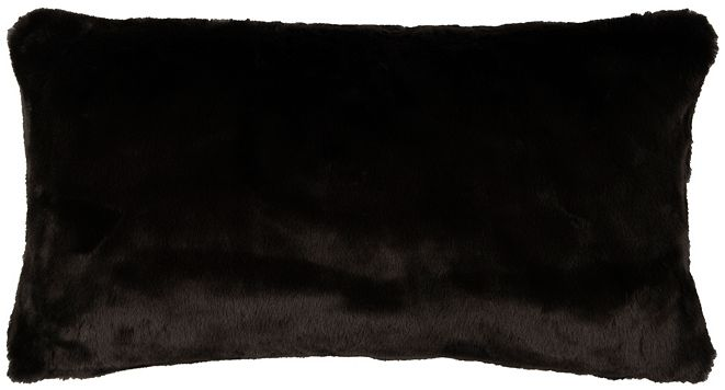 """Rizzy Home 14"""" x 26"""" Faux Fur Pillow Cover"""