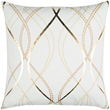 "Donny Osmond 20"" x 20"" Geometrical Design Pillow Cover"