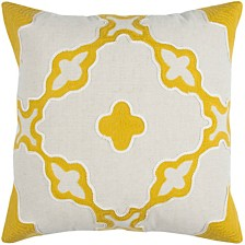 """Rizzy Home 20"""" x 20"""" Geometrical Design Pillow Cover"""