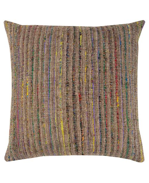 """Rizzy Home 22"""" x 22"""" Textured Stripe Pillow Cover"""