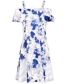 Epic Threads Super Soft Big Girls Tie-Dyed Cold-Shoulder Dress, Created for Macy's