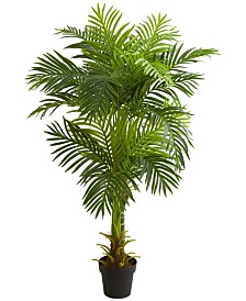 Nearly Natural 5' Double-Stalk Hawaii Palm Artificial Tree
