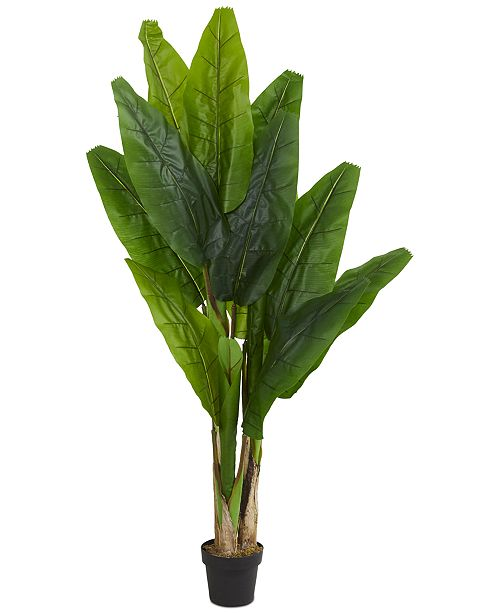 Nearly Natural 6' Triple Stalk Banana Artificial Tree