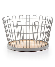 Martha Stewart Collection Small Gray Wire Basket, Created for Macy's