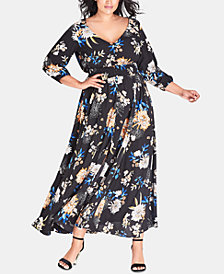 City Chic Plus Size Azalea Floral Maxi Dress, Created for Macy's