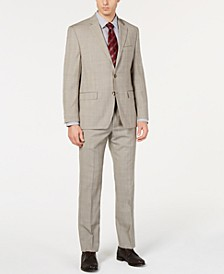 Men's UltraFlex Classic-Fit Plaid Suit Separates