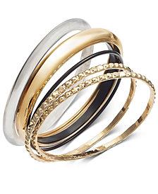 Thalia Sodi Tri-Tone 5-Pc. Set Bangle Bracelets, Created for Macy's